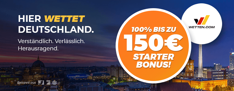 Wetten.com Sport Bonus 150