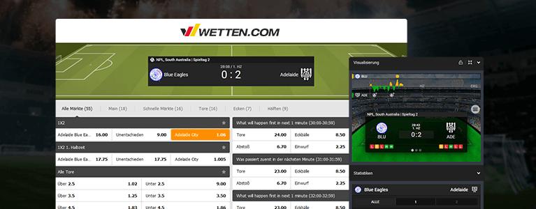 wetten.com Sport Livewetten