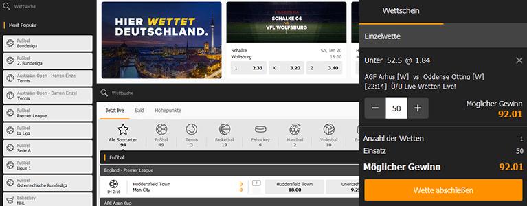 Wetten.com Sport Quoten