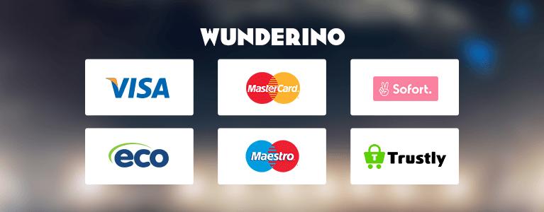 Wunderino Casino Zahlungsmethoden