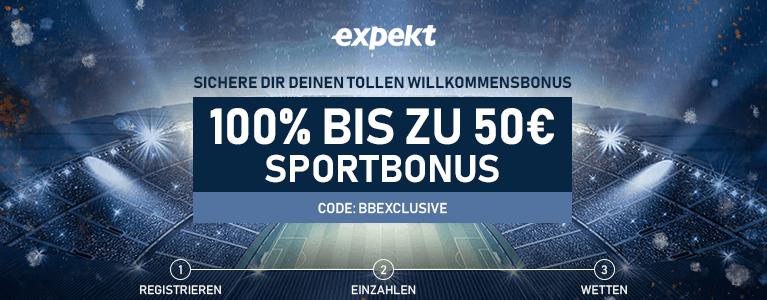 expekt sport bonus 50
