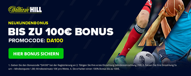 William Hill Sport Bonus 100 DEU