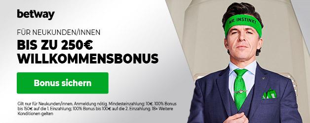 Betway 250 Euro Sport Bonus