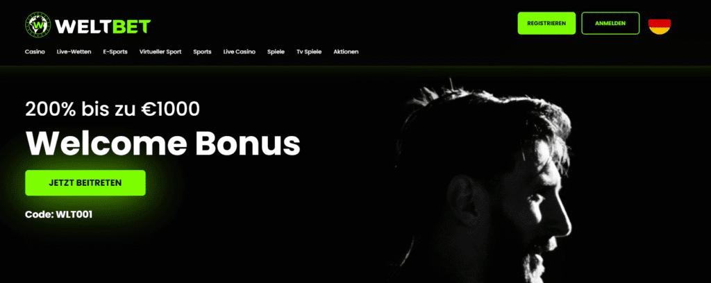 Weltbet Bonus Code