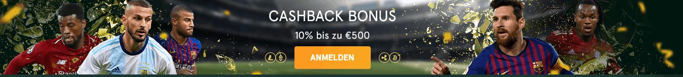 Casinia Cashback Bonus