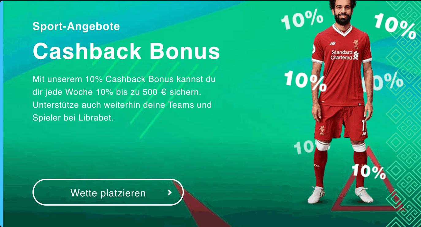 Librabet Cashback Bonus