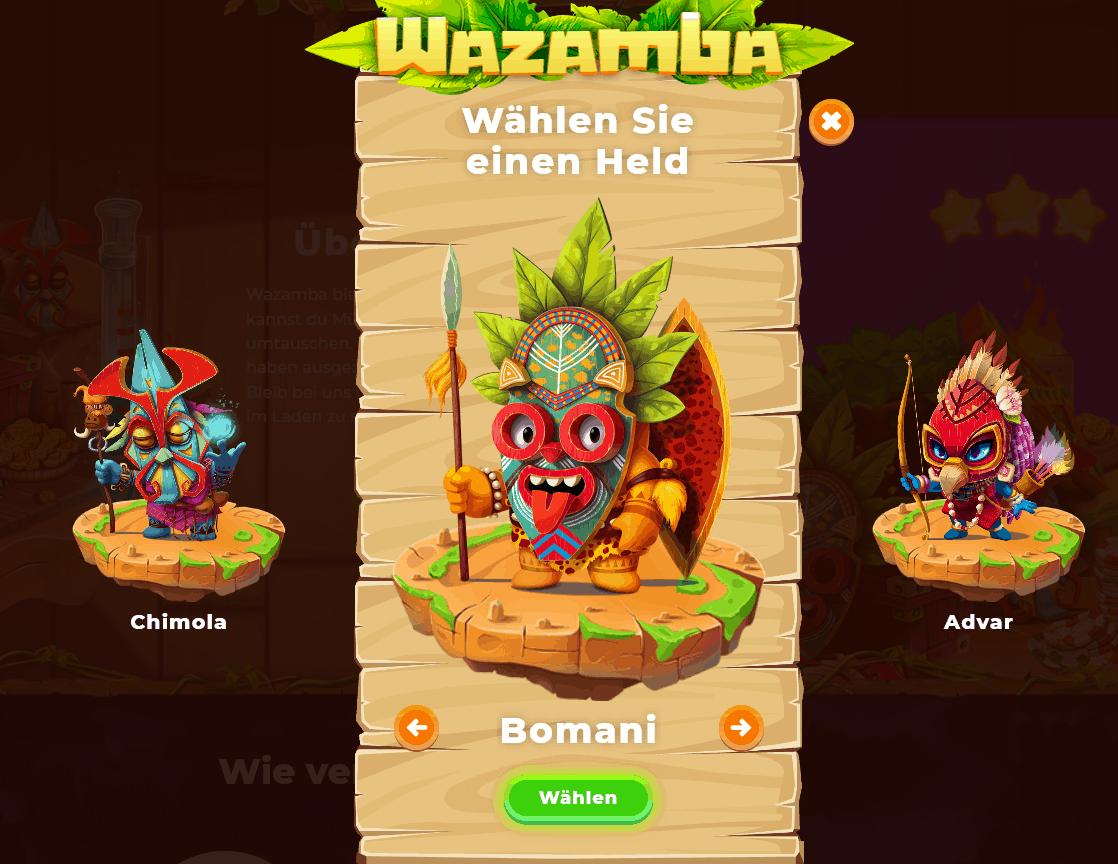 Wazamba Registrierung